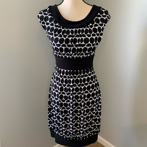 White House Black Market- Black & white dress